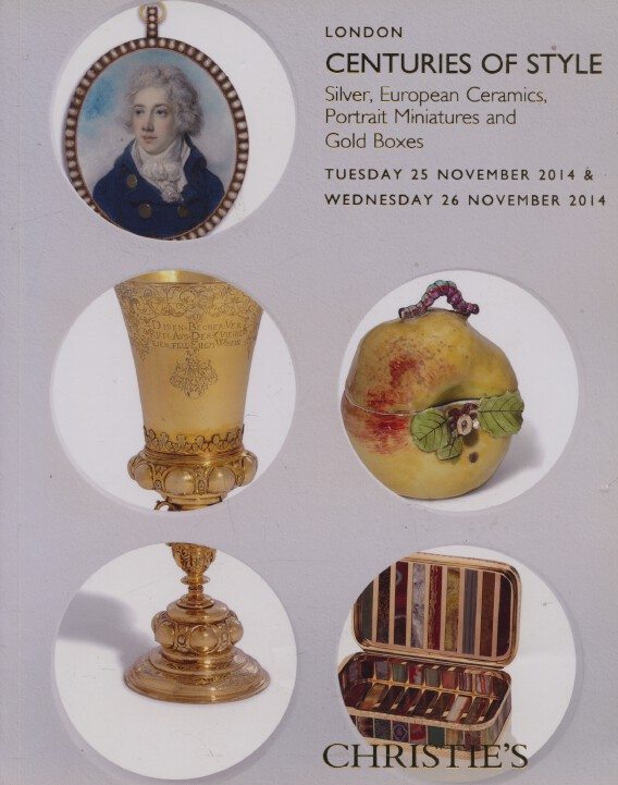 Christies November 2014 Centuries of Style Portrait Miniatures Silver Gold Boxes