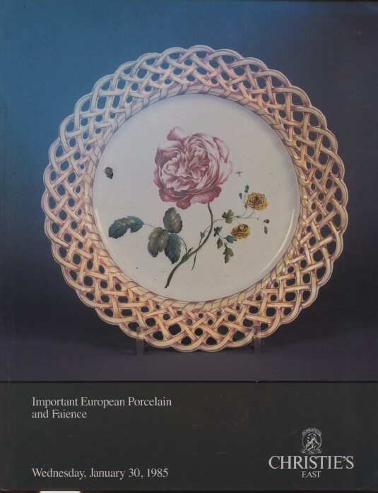 Christies January 1985 Important European Porcelain and Faience