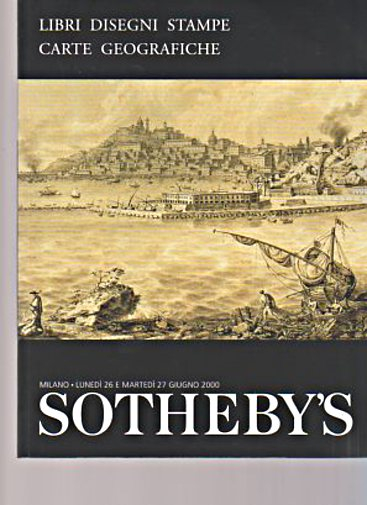 Sothebys 2000 Books, Drawings, Prints and Maps