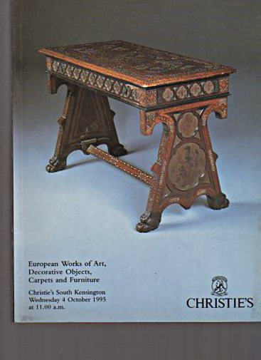 Christies 1995 European Works of Art, Furniture & Carpets
