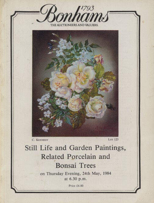 Bonhams May 1984 Still Life & Garden Paintings, Related Porcelain & Bonsai Trees