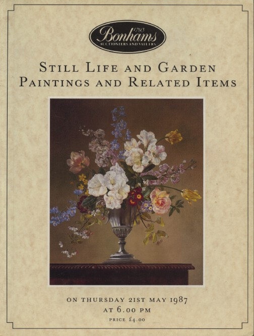Bonhams May 1987 Still Life & Garden Paintings, Related items