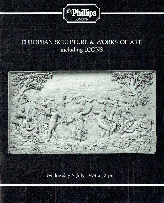 Phillips July 1993 European Sculpture and Works of Art inc. Icons