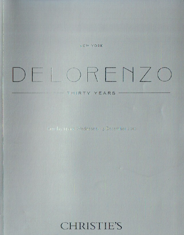 Christies December 2010 Delorenzo Thirty Years