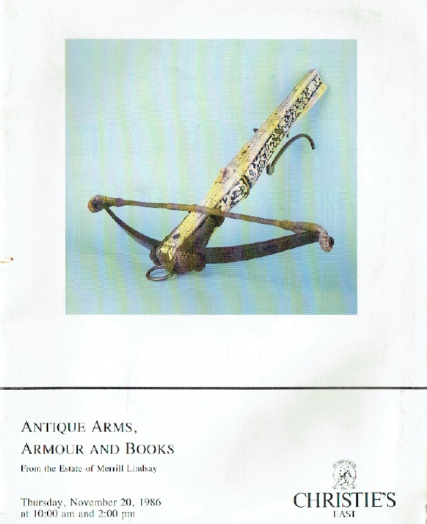 Christies November 1986 Antique Arms, Armour & Books