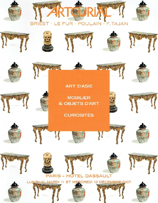Artcurial December 2007 Asian Art, (French) Furniture & Works of Art