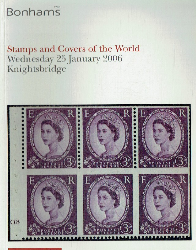 Bonhams January 2006 Stamps & Cover of the World