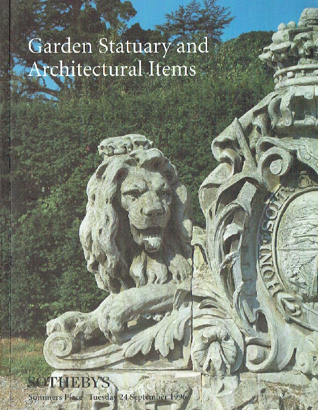 Sothebys September 1996 Garden Statuary and Architectural Items