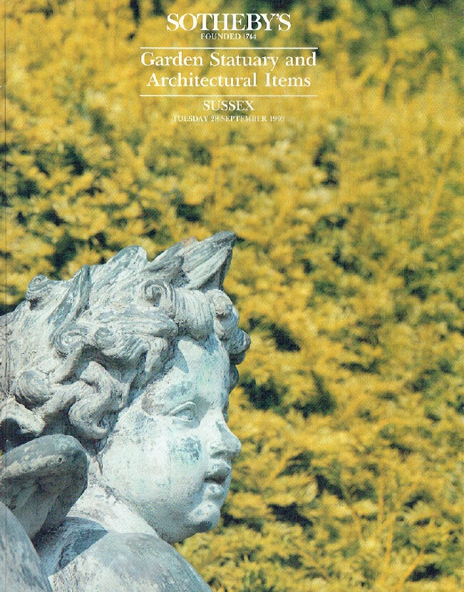 Sothebys September 1993 Garden Statuary and Architectural Items
