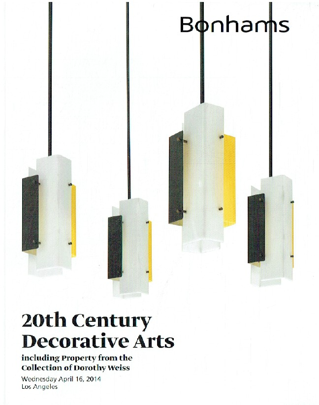 Bonhams April 2014 20th Century Decorative Arts Inc. Coll. Of Dorothy Weiss