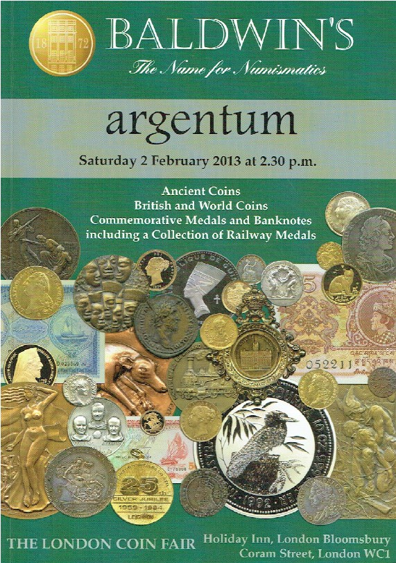 Baldwins February 2013 Ancient & World Coins, Commemorative Medals & Banknotes