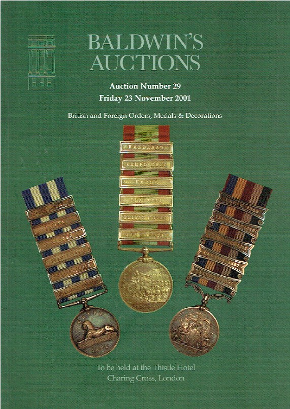 Baldwins November 2001 British & Foreign Orders, Medals & Decorations