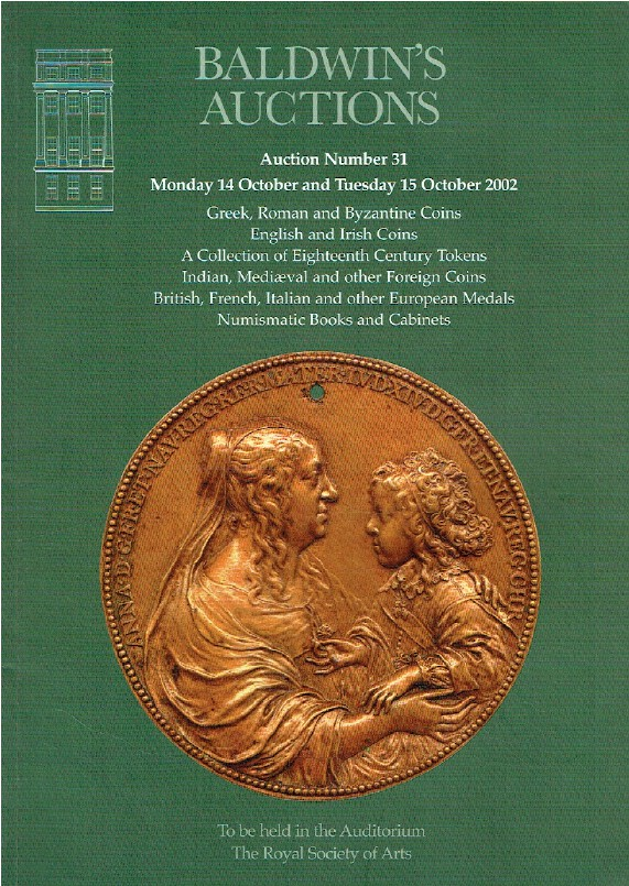 Baldwins October 2002 Greek, Roman & Byzantine Coins & French & European Medals