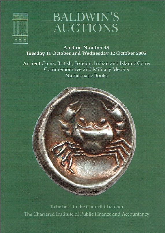 Baldwins October 2005 Ancient, Foreign & Indian Coins & Commemorative Medals
