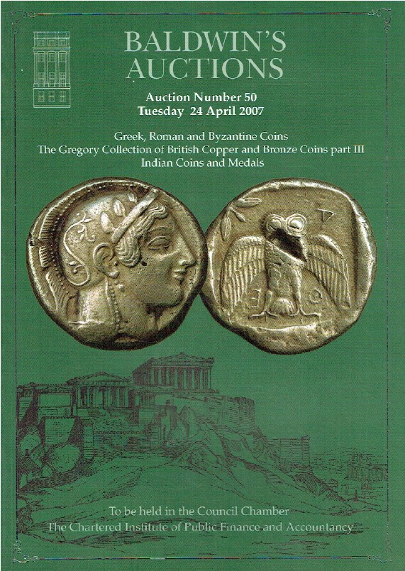 Baldwins April 2007 Greek, Byzantine & Indian Coins & Medals -Gregory Collection