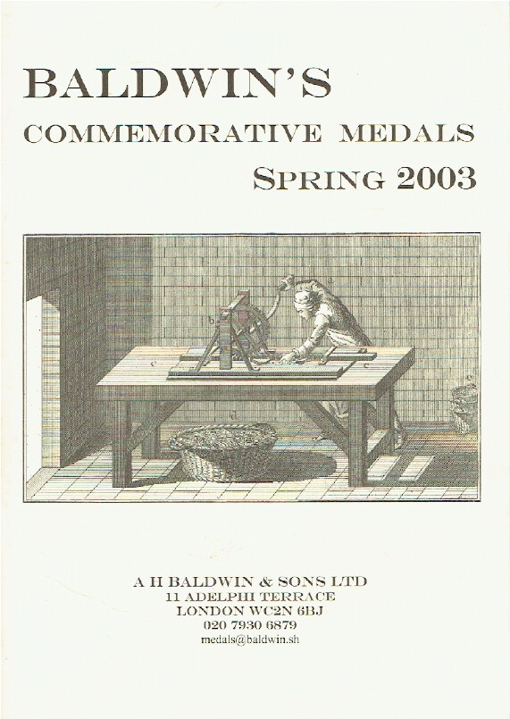 Baldwins Spring 2003 Fixed Price List - Commemorative Medals