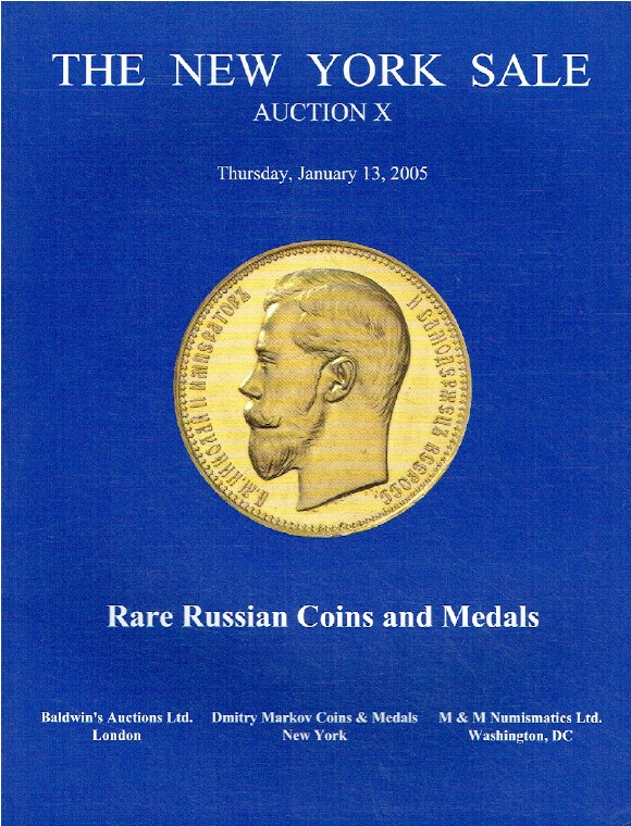 Baldwins January 2005 The New York Sale - Rare Russian Coins & Medals