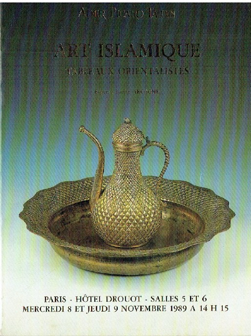 Ader Picard Tajan November 1989 Islamic Art & Orientalist Paintings