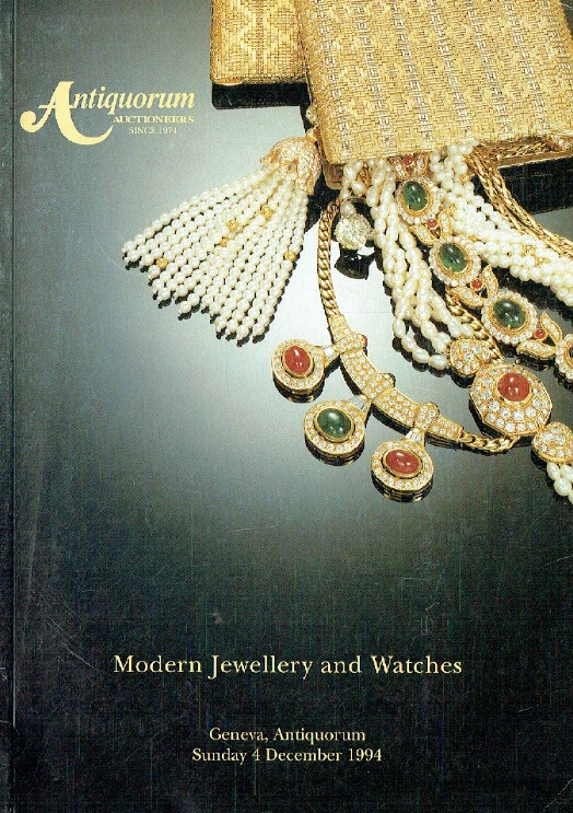 Antiquorum December 1994 Modern Jewellery & Watches
