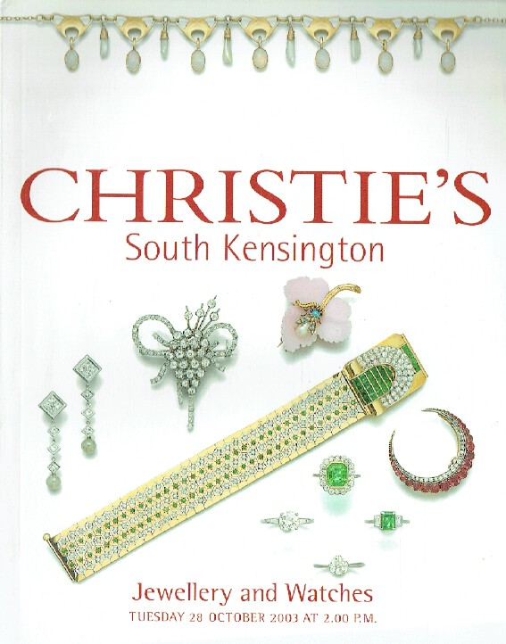 Christies October 2003 Jewellery & Watches