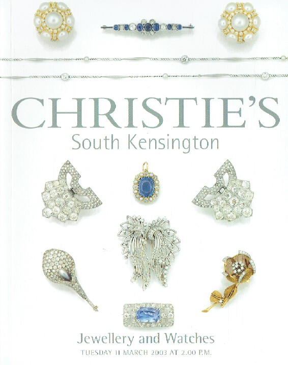 Christies March 2003 Jewellery & Watches