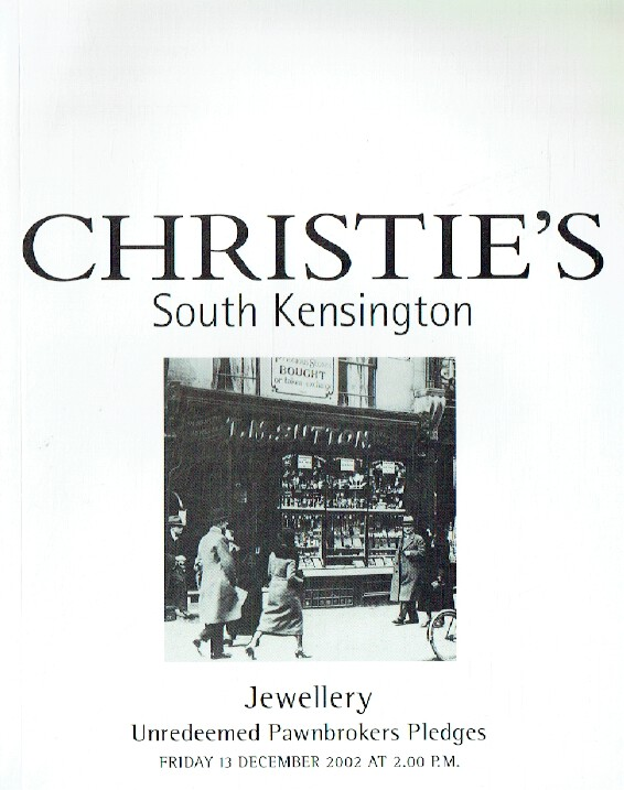 Christies December 2002 Jewellery - Unredeemed Pawnbrokers Pledges