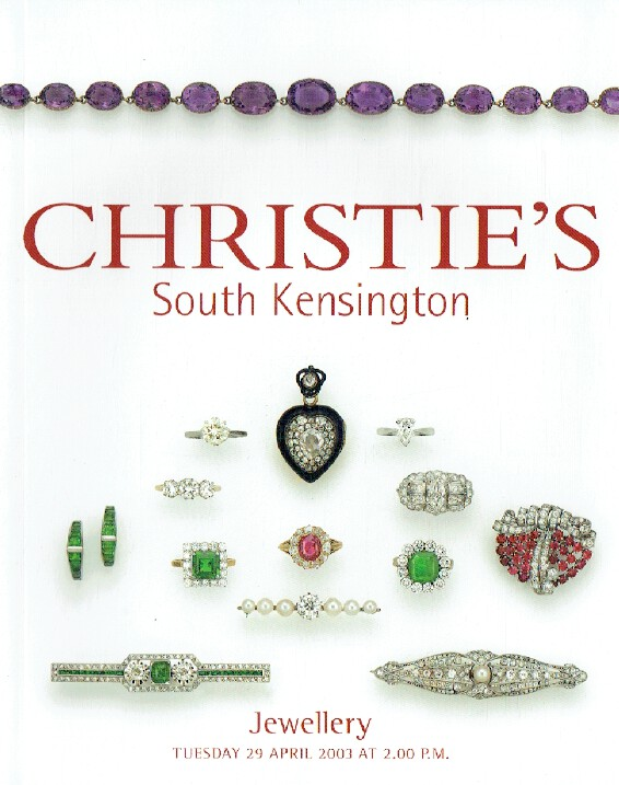 Christies April 2003 Jewellery