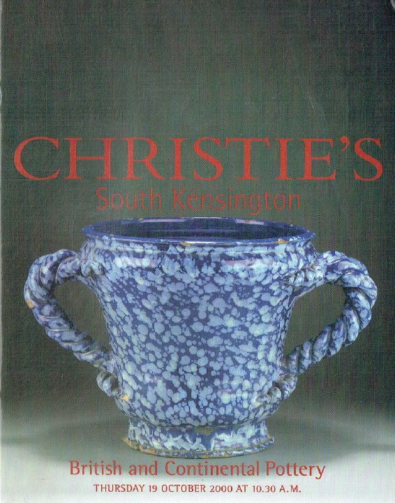 Christies October 2000 British & Continental Pottery