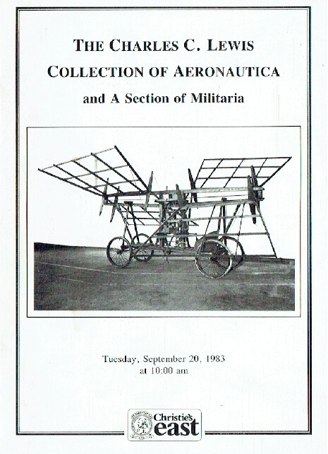 Christies September 1983 Charles C. Lewis Collection of Aeronautica