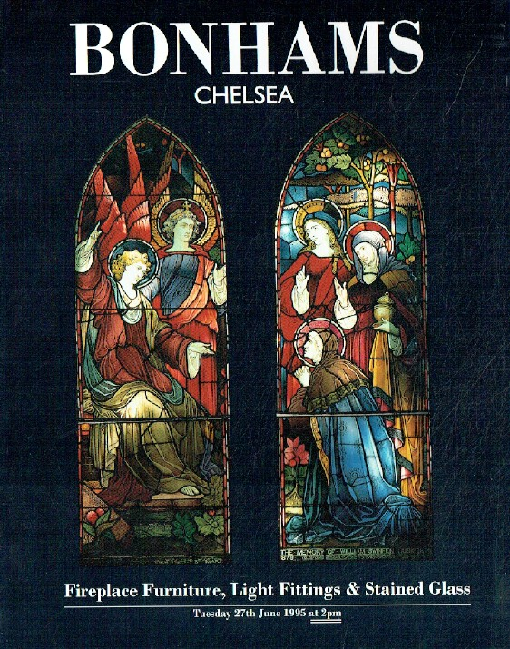 Bonhams June 1995 Fireplace Furniture, Light Fittings & Stained Glass