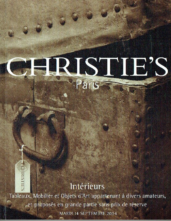 Christies September 2004 Interiors, Paintings, Furniture & Objects