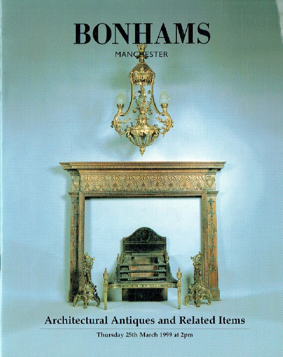 Bonhams March 1999 Architectural Antiques & Related Items