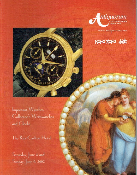 Antiquorum June 2002 Important Watches, Wristwatches, Clocks