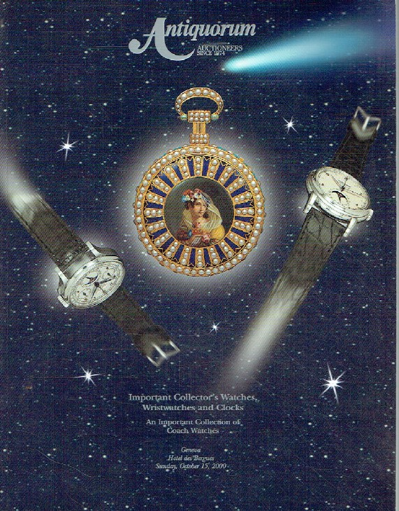 Antiquorum October 2000 Important Watches, Wristwatches, Clocks