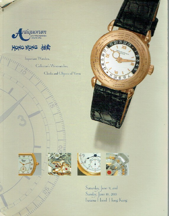 Antiquorum June 2001 Important Watches, Wristwatches, Clocks