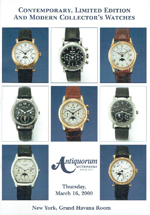 Antiquorum March 2000 Contemporary, Limited Edition & Modern Collector's Watches