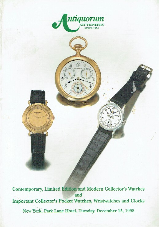 Antiquorum December 1998 Contemporary, Limited Edition & Modern Watches