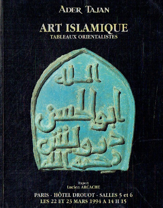 Ader Tajan March 1994 Islamic Art & Orientalist Paintings