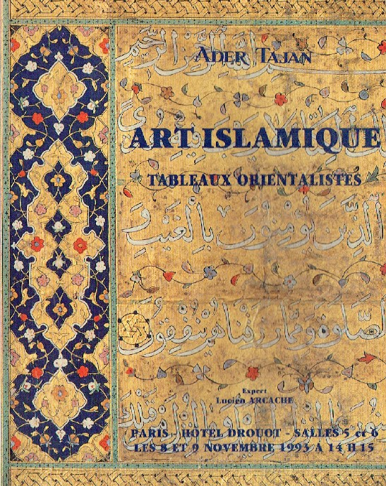 Ader Tajan November 1993 Islamic Art & Orientalist Paintings