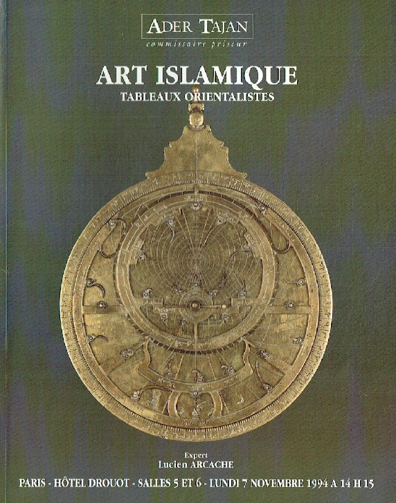 Ader Tajan November 1994 Islamic Art & Orientalist Paintings