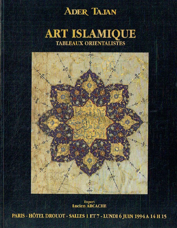 Ader Tajan June 1994 Islamic Art & Orientalist Paintings
