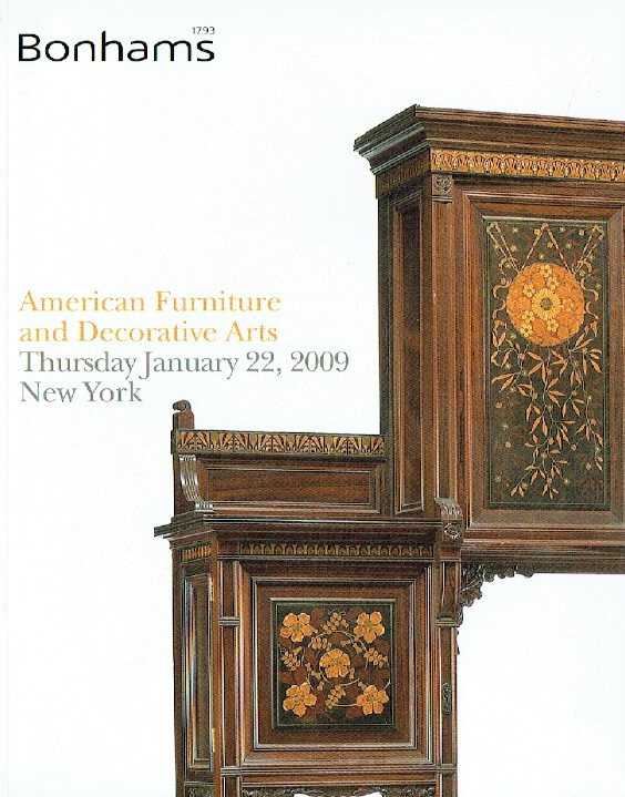 Bonhams January 2009 American Furniture & Decorative Arts