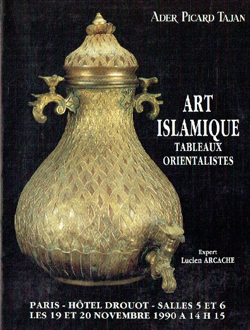 Ader Picard Tajan November 1990 Islamic Art & Orientalist Paintings