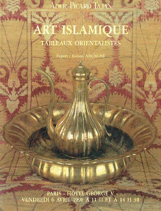 Ader Picard Tajan April 1990 Islamic Art & Orientalist Paintings