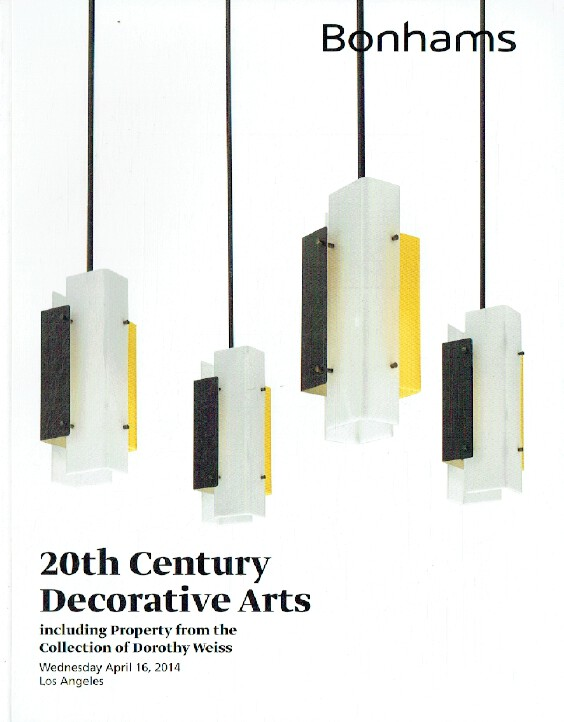 Bonhams April 2014 20th Century Decorative Arts inc. Dorothy Weiss Collection