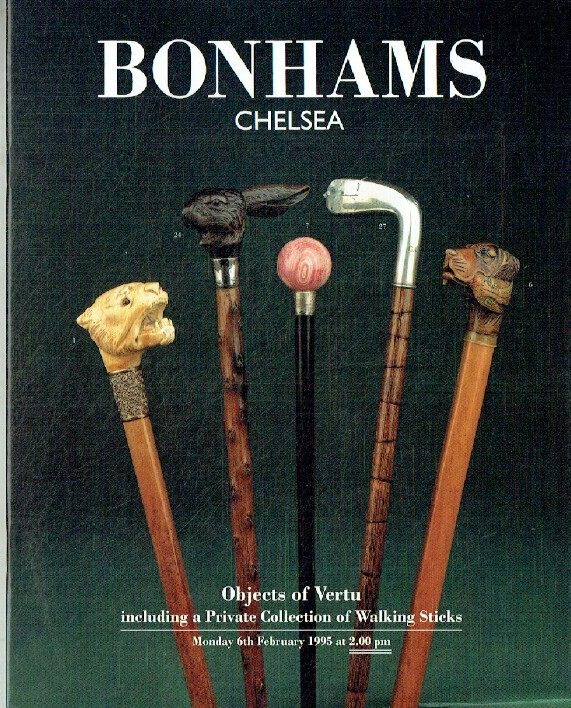Bonhams February 1995 Objects of Vertu inc. Collection of Walking Sticks