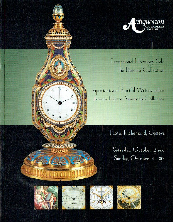Antiquorum October 2001 Exceptional Horology Sale inc. Ruscitti Collection and I