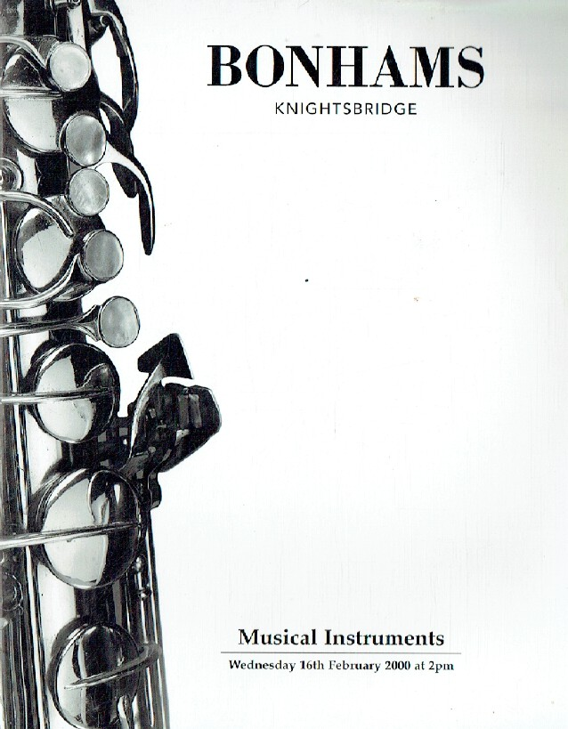 Bonhams February 2000 Musical Instruments
