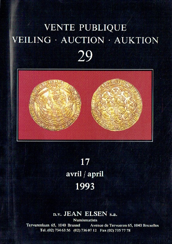 Jean Elsen April 1993 Coins