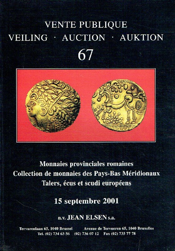 Jean Elsen September 2001 Roman Provincial Coins Collection of Netherlands